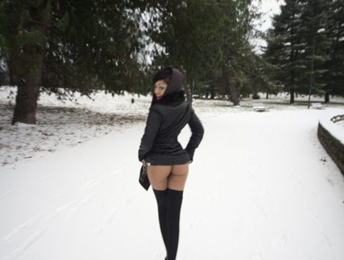 Ass In Snow 48