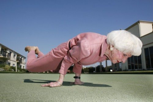 83 year old Yoga instructor, Bette Calman,