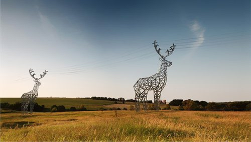 Deer shaped hydro towers by Moscow-based design studio DesignDepot