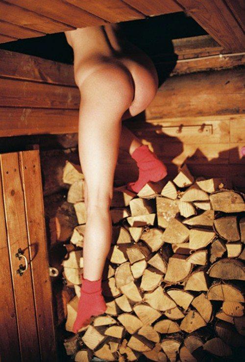 Nude Female Lumber Jack