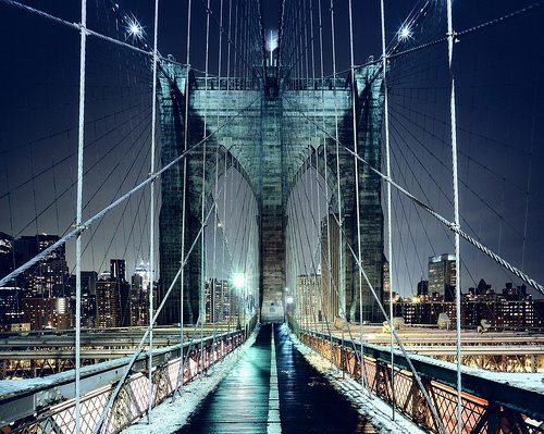 Brooklyn Bridge Walkway, New York CIty by Andrew Mace