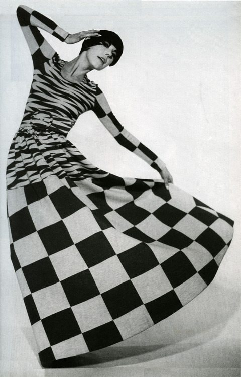 Peggy Moffitt in a dress by Rudi Gernreich, 1971