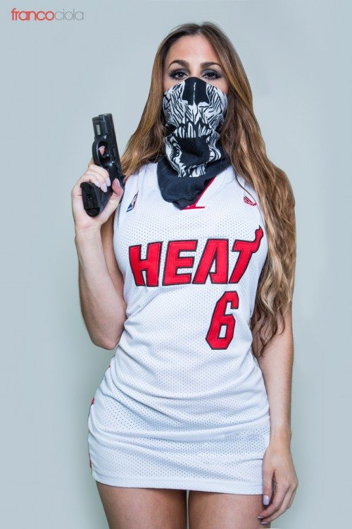 Gaby Barcelo Miami Heat by - Franco Ciola