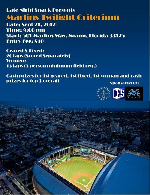 Miami Event: Marlins Twilight Criterium - Sept 21,2012