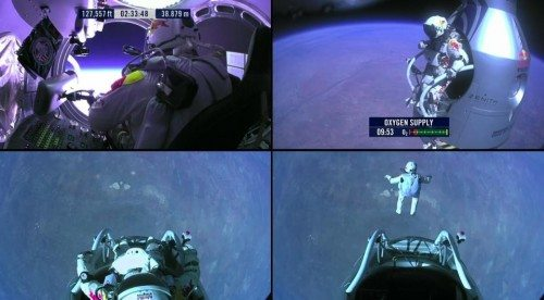 Red Bull Stratos Jump . Felix Baumgartner