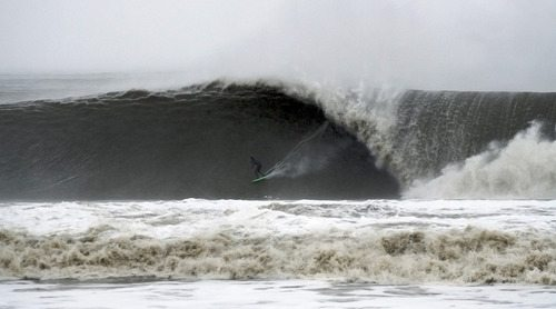 Surfing Hurricane Sandy