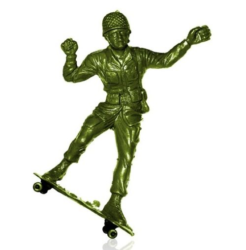 Toy soldier skaters by Steve Nishimoto