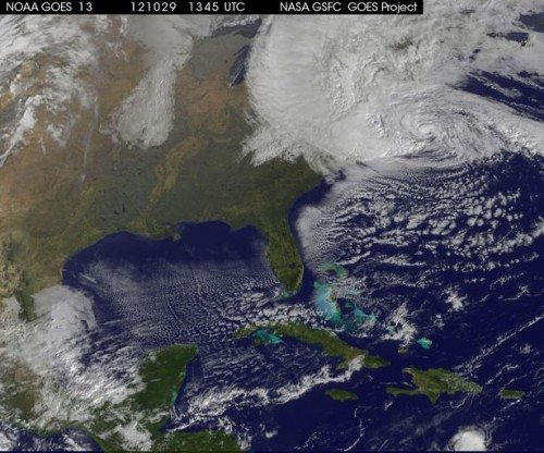 Captured but a few minutes ago by NASA and NOAA's joint GOES satellite