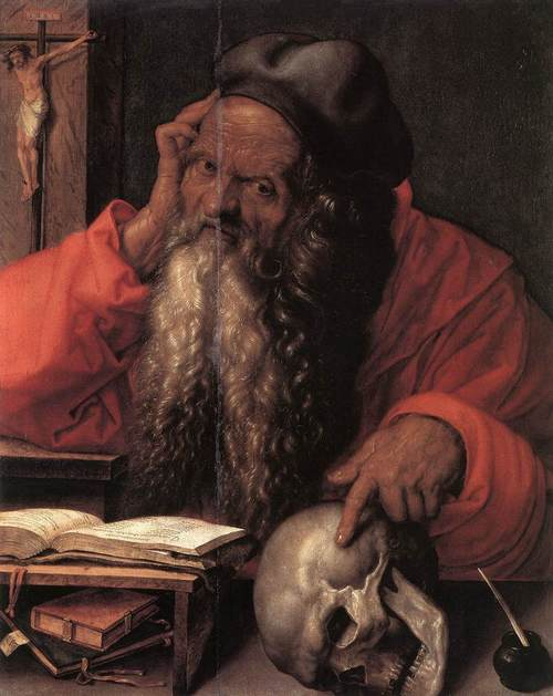 St. Jerome (detail) by Albrecht Durer