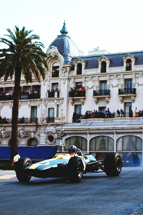 Lotus driver Graham Hill, Monaco Grand Prix, 1967