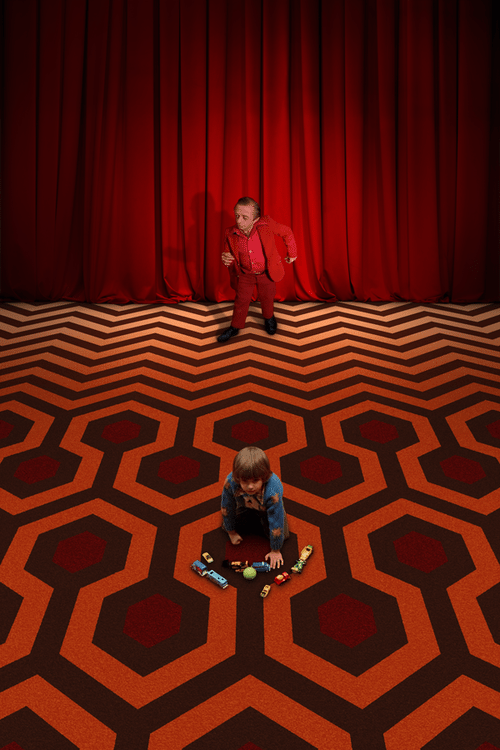 The iconic carpeting of The Shining and Twin Peaks collide.