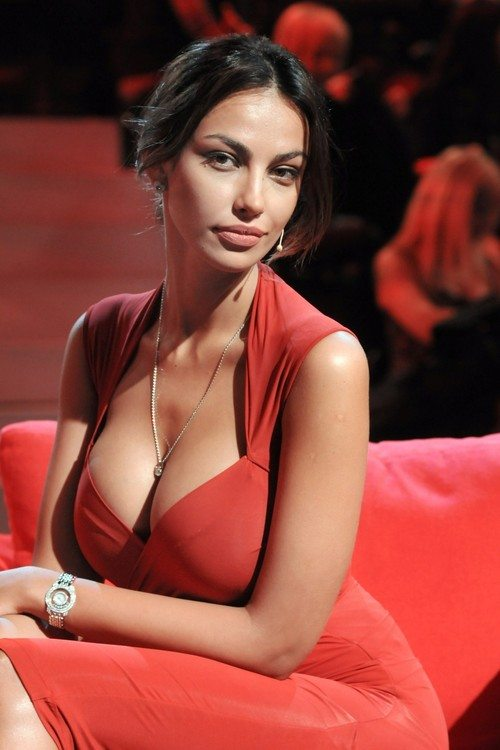 Madalina Ghenea Chiambretti  Show  Italy on February 26 2012