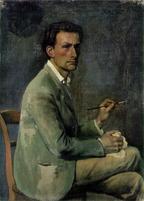 Balthus, self portrait