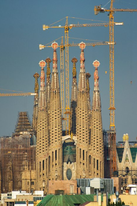 Sagrada Familia under construction