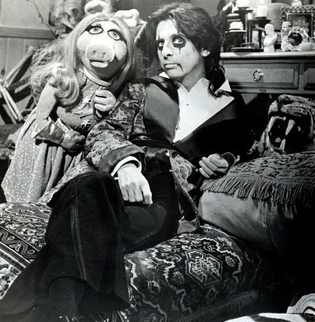Miss Piggy and Alice Cooper