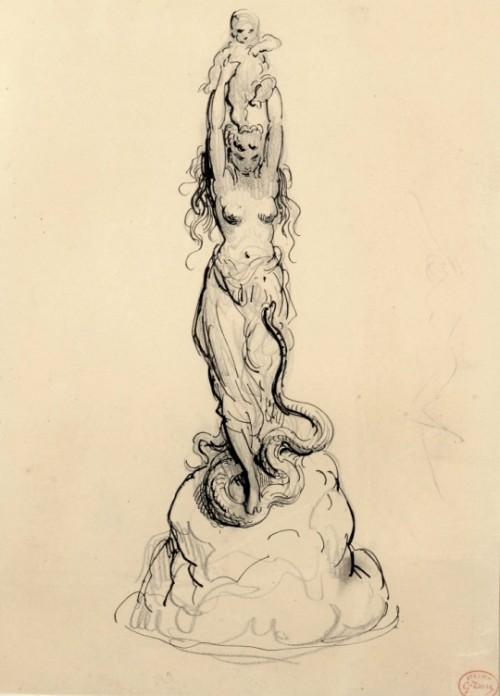 Gustave Doré (1832–1883), L'Effroi - 1879